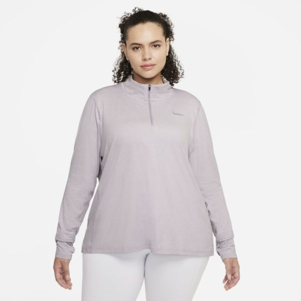 Nike Camiseta de running con media cremallera - Mujer - Morado