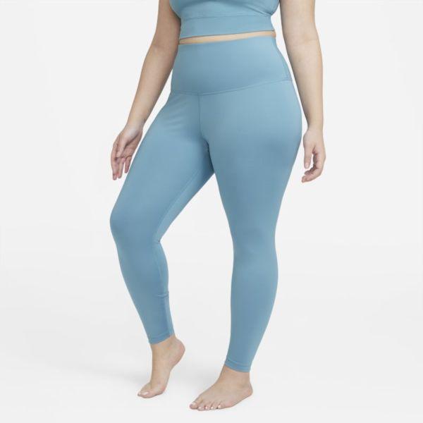 Nike Yoga Leggings de 7/8 de talle alto - Mujer - Azul