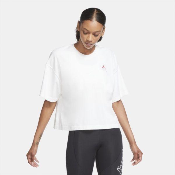 Jordan Essentials Camiseta de corte cuadrado y manga corta - Mujer - Blanco