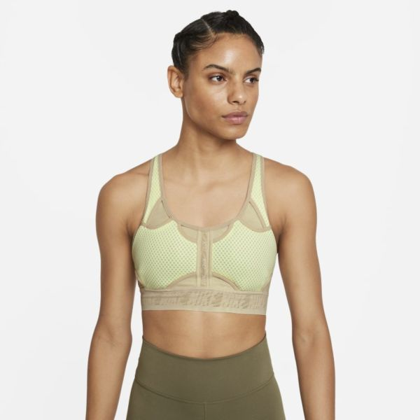 Nike Dri-FIT ADV Swoosh Sujetador deportivo de sujeción media - Mujer - Verde