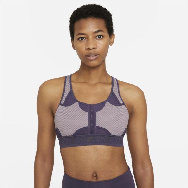 Nike Dri-FIT ADV Swoosh Sujetador deportivo de sujeción media - Mujer - Morado