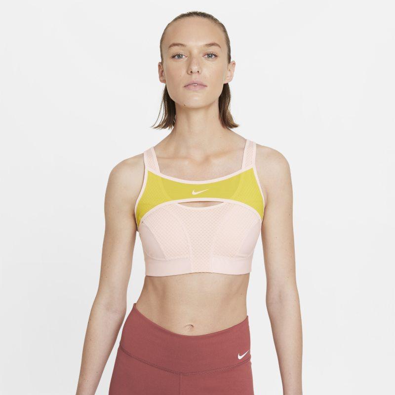 Nike Alpha UltraBreathe Sujetador deportivo de sujeción alta - Mujer - Naranja