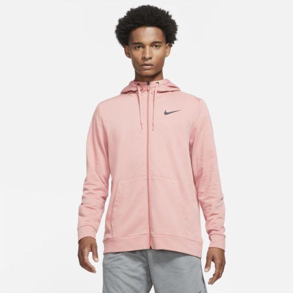 Nike Dri-FIT Sudadera con capucha de entrenamiento con cremallera completa - Hombre - Rosa
