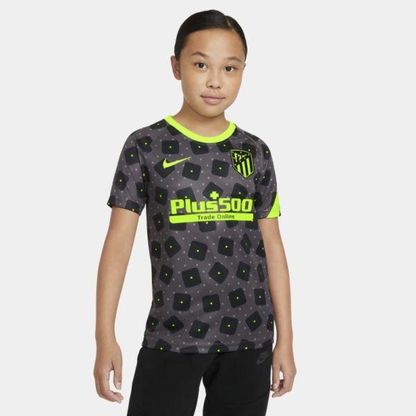 Atlético de Madrid Camiseta de fútbol de manga corta para antes de los partidos - Niño/a - Negro