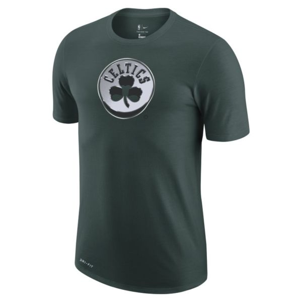 Boston Celtics Earned Edition Camiseta Logo Nike Dri-FIT de la NBA - Hombre - Verde