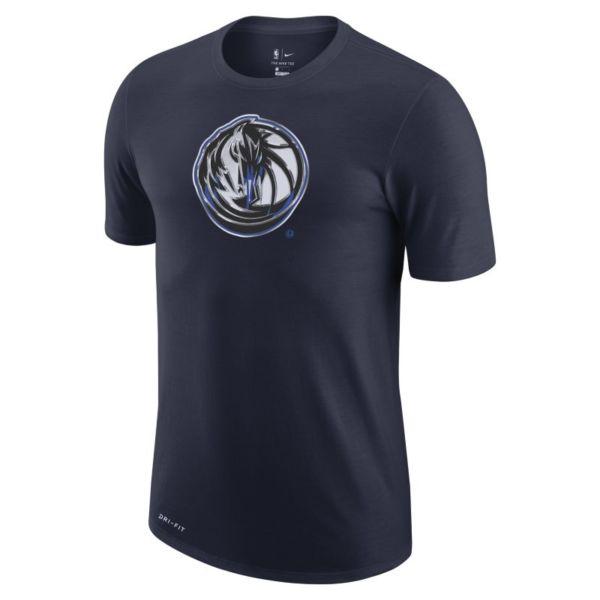 Dallas Mavericks Earned Edition Camiseta Logo Nike Dri-FIT de la NBA - Hombre - Azul