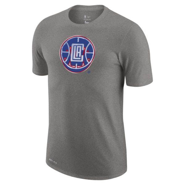 LA Clippers Earned Edition Camiseta Logo Nike Dri-FIT de la NBA - Hombre - Gris