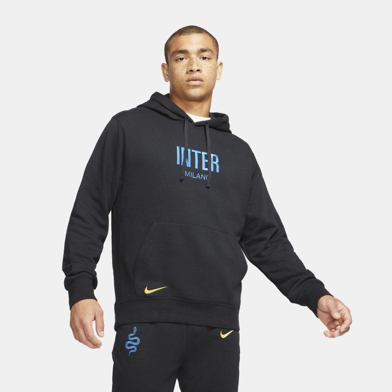 Inter de Milán Sudadera con capucha de tejido Fleece de fútbol - Hombre - Negro