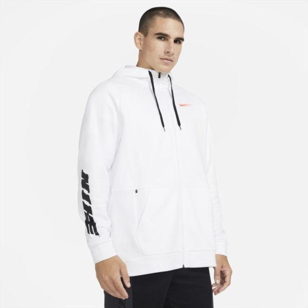 Nike Therma Sport Clash Sudadera de entrenamiento con capucha y cremallera completa - Hombre - Blanco