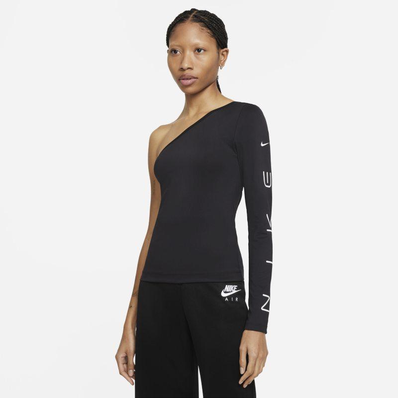 Nike Sportswear Camiseta asimétrica de manga larga - Mujer - Negro