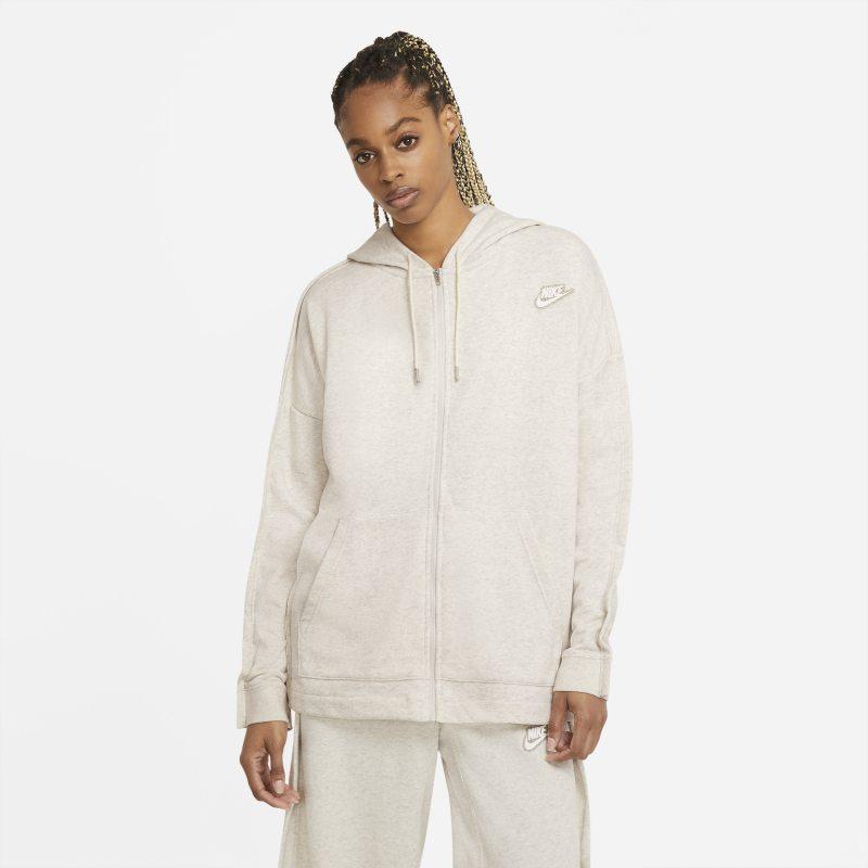 Nike Sportswear Sudadera con capucha y cremallera completa de tejido French Terry - Mujer - Marrón