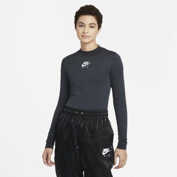 Nike Air Camiseta de manga larga y cuello alto - Mujer - Negro