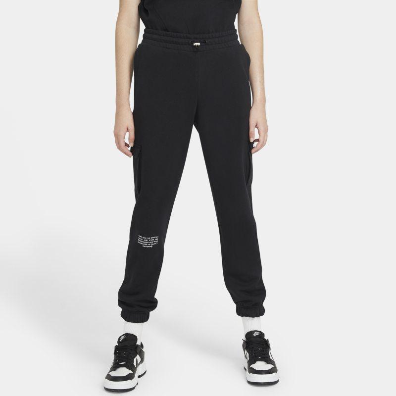 Nike Sportswear Swoosh Pantalón de tejido French terry - Mujer - Negro