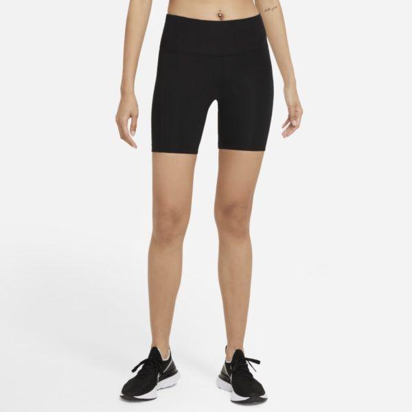 Nike Dri-FIT Fast Pantalón corto de running de talle medio y 18 cm - Mujer - Negro