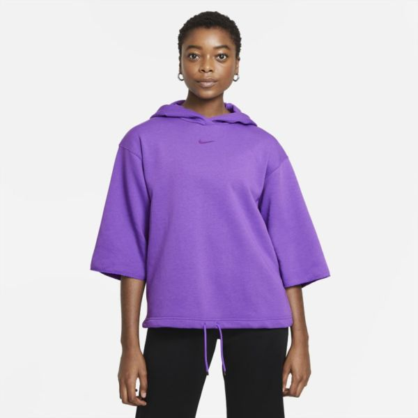 Nike Sportswear Icon Clash Sudadera con capucha de manga corta - Mujer - Morado