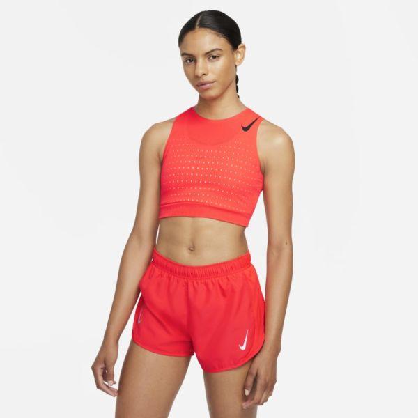 Nike AeroSwift Camiseta de running corta - Mujer - Rojo