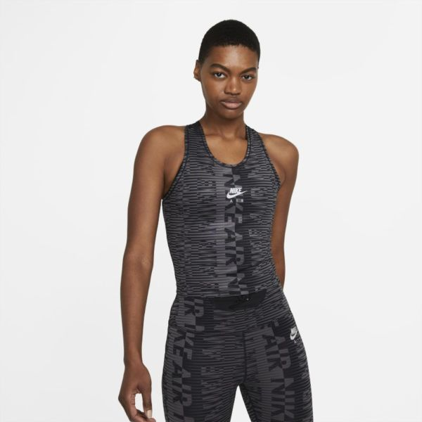 Nike Air Camiseta de tirantes de running estampada - Mujer - Negro