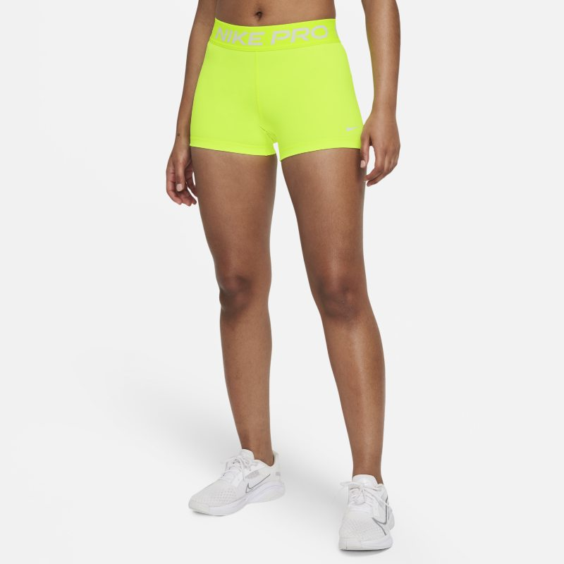 Nike Pro Pantalón corto de 8 cm - Mujer - Amarillo