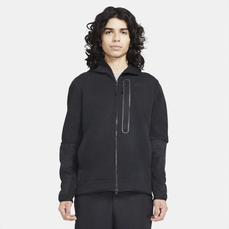 Nike Sportswear Tech Fleece Sudadera con capucha con cremallera completa de tejido Woven - Hombre - Negro
