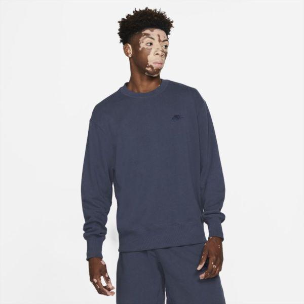 Nike Sportswear Sudadera de tejido Fleece clásica - Hombre - Azul