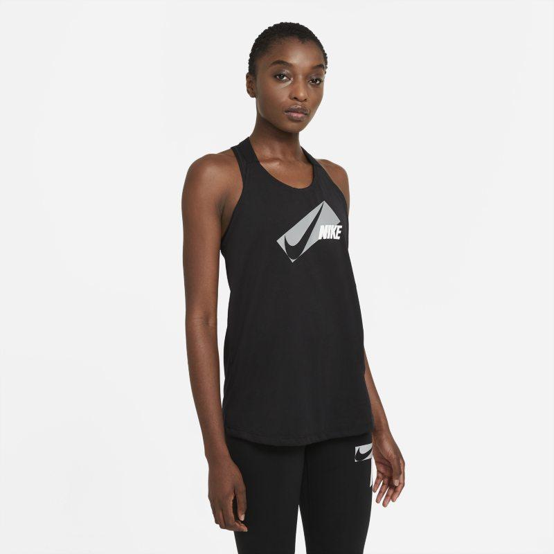 Nike Dri-FIT Elastika Camiseta de tirantes de entrenamiento con estampado - Mujer - Negro