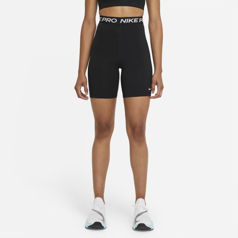 Nike Pro 365 Pantalón corto de talle alto de 18cm - Mujer - Negro
