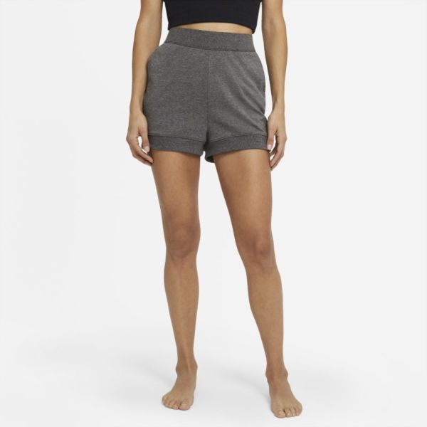 Nike Yoga Pantalón corto de tejido French terry - Mujer - Negro