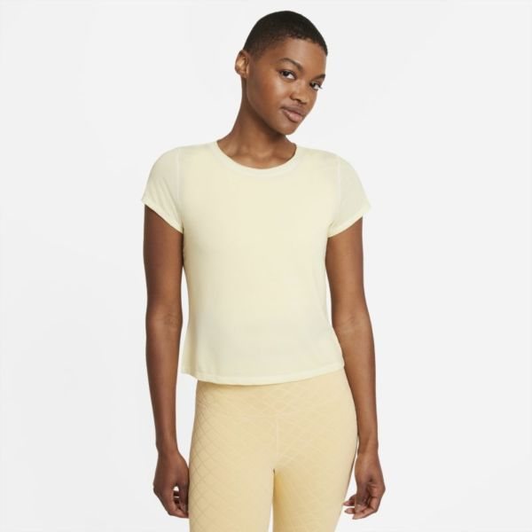 Nike Yoga Dri-FIT Camiseta de manga corta - Mujer - Amarillo