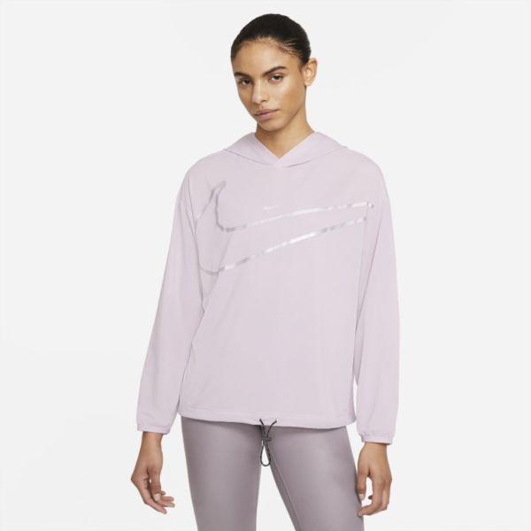 Colección Nike Pro Sudadera con capucha y estampado - Mujer - Morado