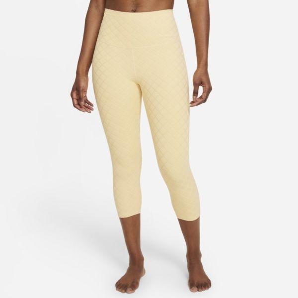 Nike Yoga Luxe Leggings piratas de talle alto de jacquard - Mujer - Marrón