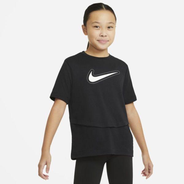 Nike Dri-FIT Trophy Camiseta de manga corta de entrenamiento - Niña - Negro