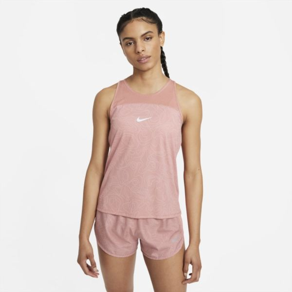 Nike Miler Run Division Camiseta de tirantes de running estampada - Mujer - Rosa