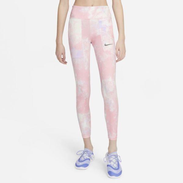 Nike One Leggings con estampado tie-dye - Niña - Rosa