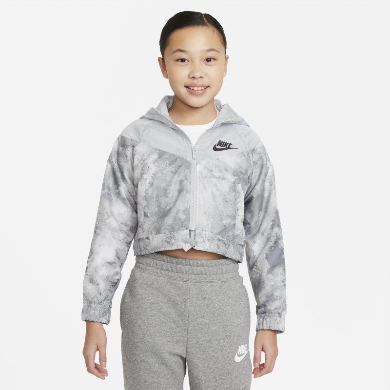 Nike Sportswear Windrunner Chaqueta con estampado Tie-Dye - Niña - Gris