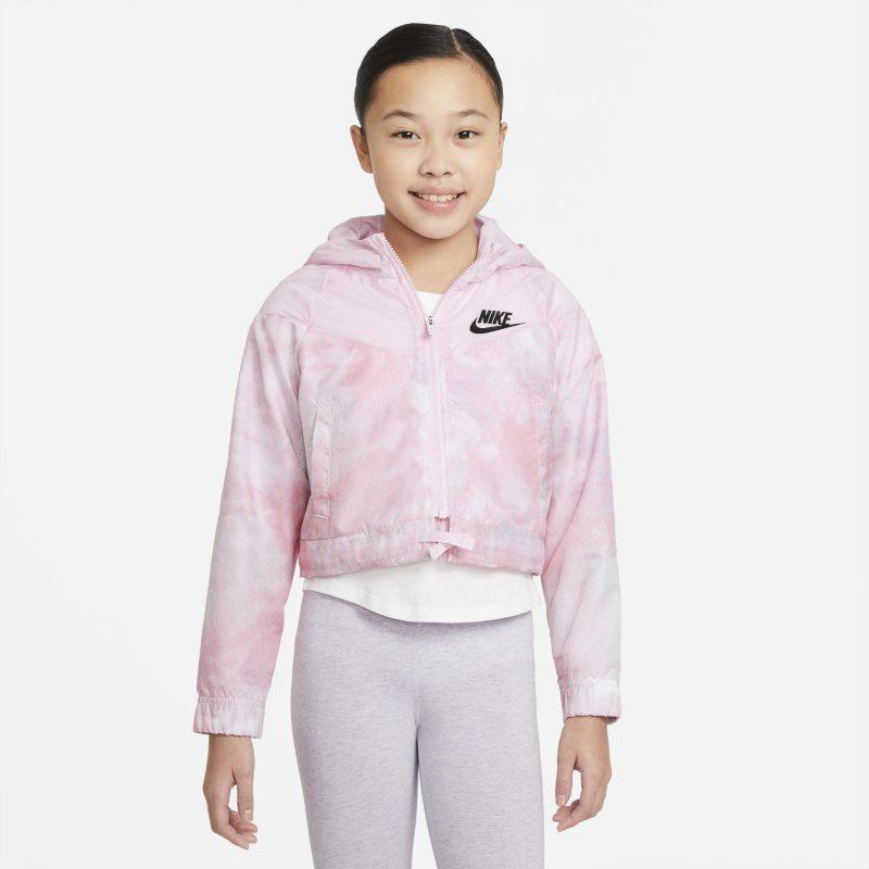 Nike Sportswear Windrunner Chaqueta con estampado Tie-Dye - Niña - Rosa