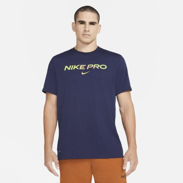 Nike Pro Camiseta - Hombre - Azul