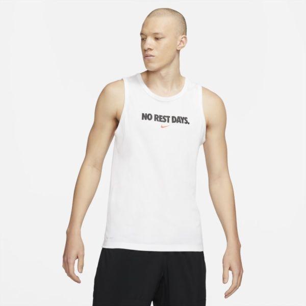 Nike Dri-FIT Camisetas de tirantes de entrenamiento - Hombre - Blanco