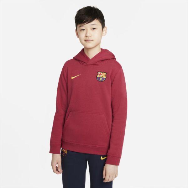 FC Barcelona Sudadera con capucha y cremallera completa de tejido Fleece - Niño/a - Rojo