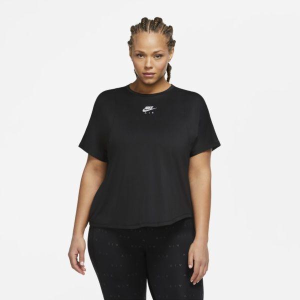 Nike Air Camiseta de running de manga corta - Mujer - Negro