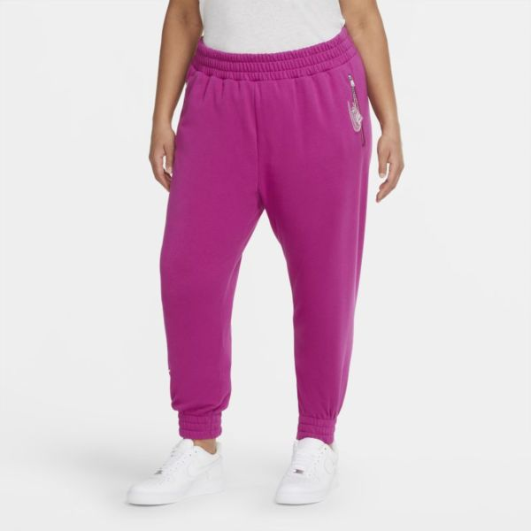 Nike Air Pantalón de tejido Fleece de 7/8 - Mujer - Morado