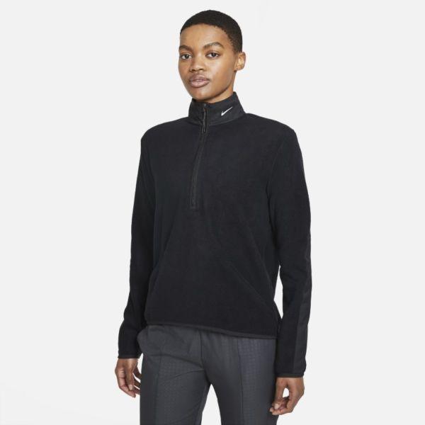 Nike Therma-FIT Victory Camiseta de manga larga con media cremallera de golf - Mujer - Negro