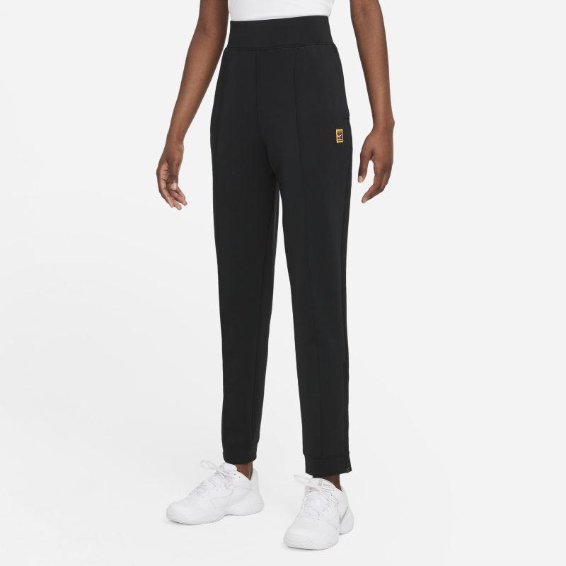 NikeCourt Dri-FIT Pantalón de tenis de tejido Knit - Mujer - Negro