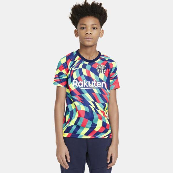 FC Barcelona Camiseta de manga corta de fútbol para antes de los partidos - Niño/a - Azul