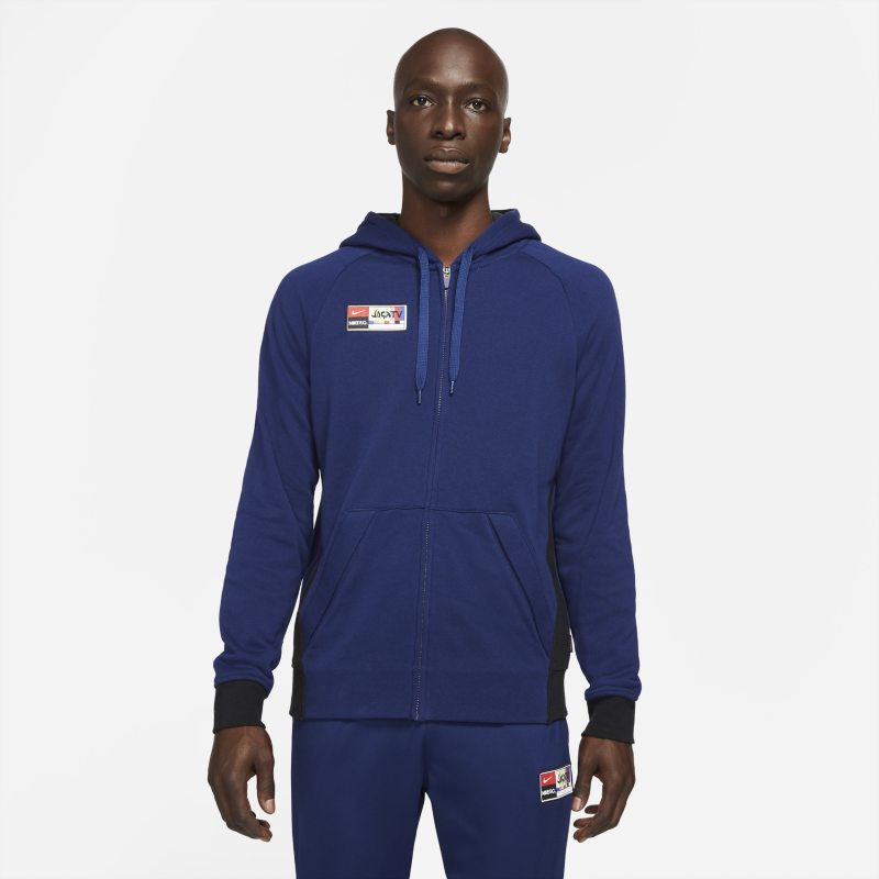 Nike F.C. Sudadera de fútbol con capucha y cremallera completa - Hombre - Azul