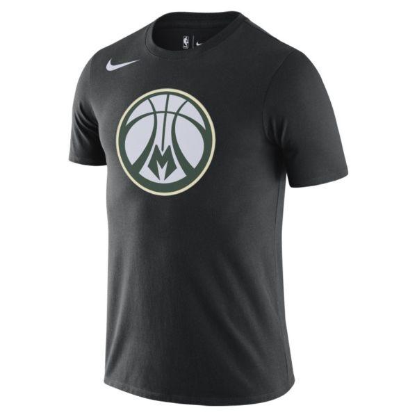 Milwaukee Bucks Camiseta Logo Nike Dri-FIT de la NBA - Hombre - Negro
