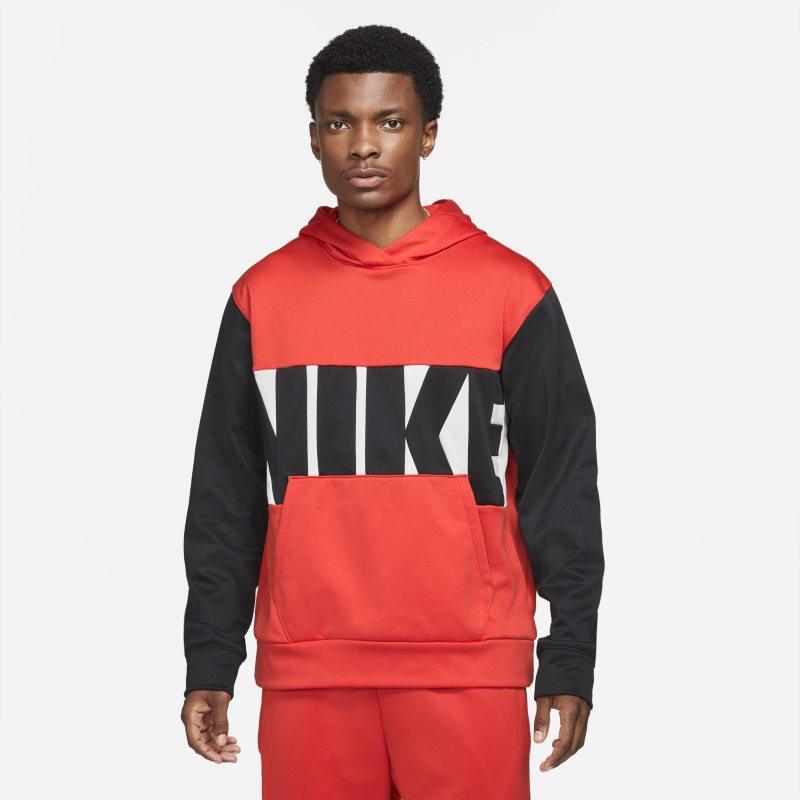 Nike Therma-FIT Sudadera con capucha de baloncesto - Hombre - Rojo