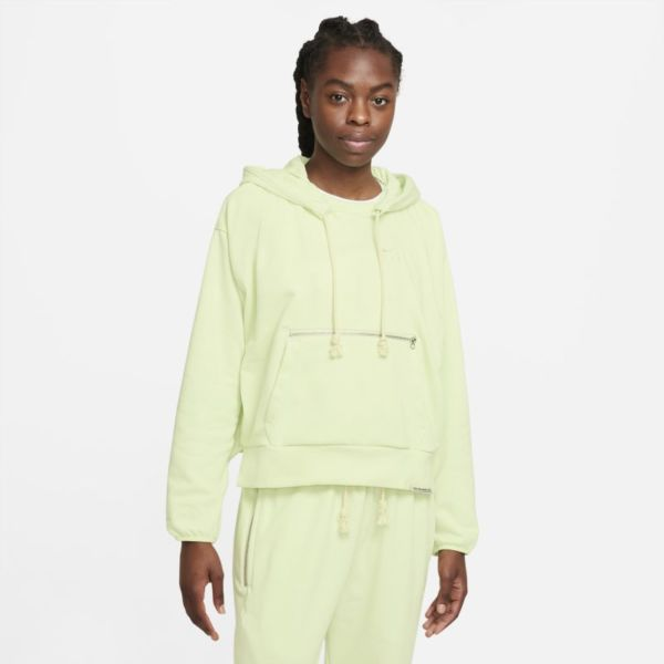 Nike Dri-FIT Swoosh Fly Standard Issue Sudadera con capucha de baloncesto - Mujer - Verde