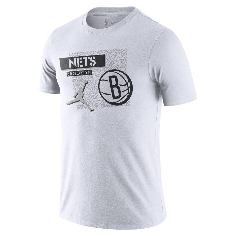 Brooklyn Nets Camiseta Jordan Dri-FIT de la NBA - Hombre - Blanco