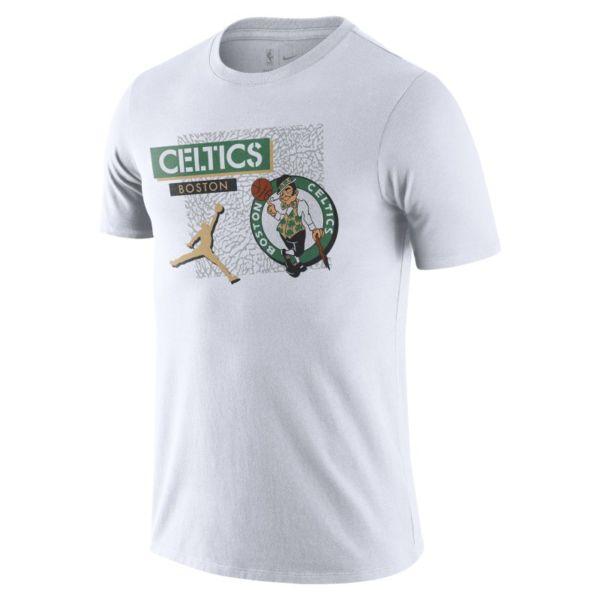 Boston Celtics Camiseta Jordan Dri-FIT de la NBA - Hombre - Blanco