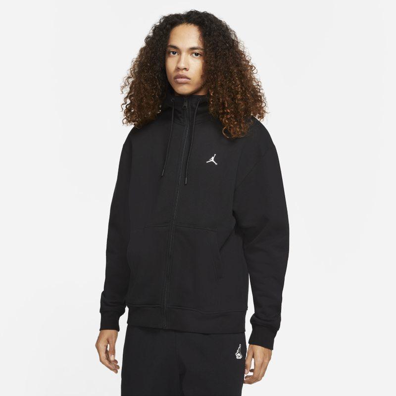 Jordan Essentials Sudadera con capucha de tejido Fleece con cremallera completa - Hombre - Negro